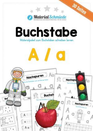 Materialpaket: Buchstabe A/a schreiben lernen
