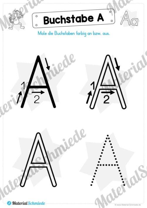 Materialpaket: Buchstabe A/a schreiben lernen (Vorschau 02)