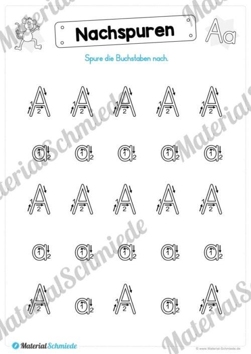 Materialpaket: Buchstabe A/a schreiben lernen (Vorschau 03)