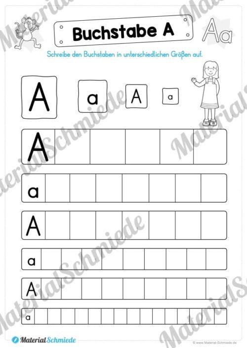 Materialpaket: Buchstabe A/a schreiben lernen (Vorschau 04)