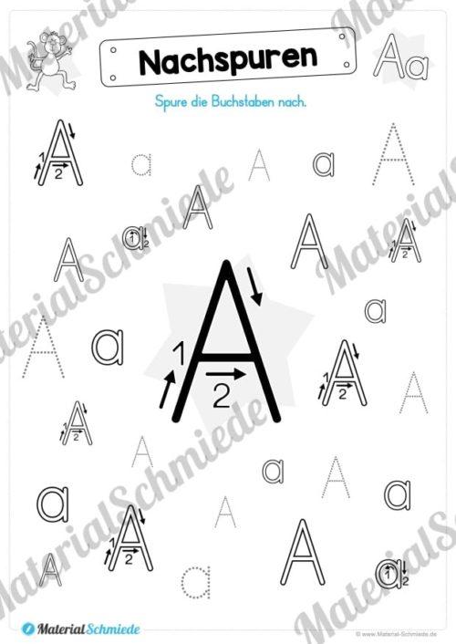 Materialpaket: Buchstabe A/a schreiben lernen (Vorschau 05)