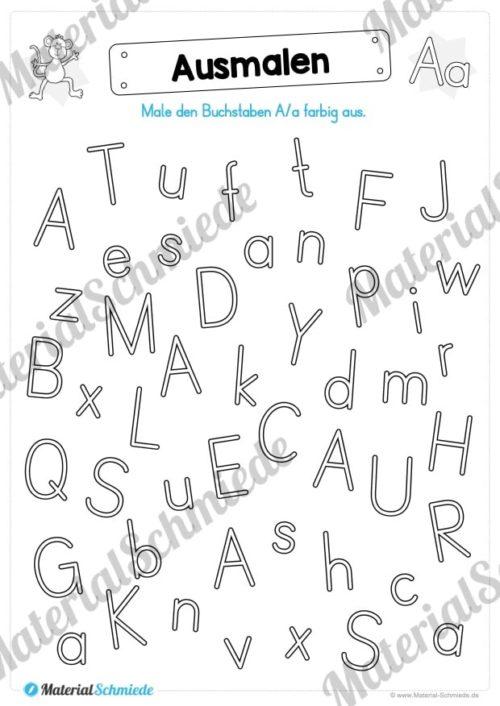 Materialpaket: Buchstabe A/a schreiben lernen (Vorschau 07)