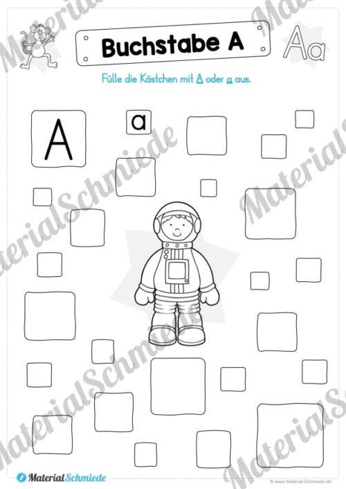 Materialpaket: Buchstabe A/a schreiben lernen (Vorschau 08)
