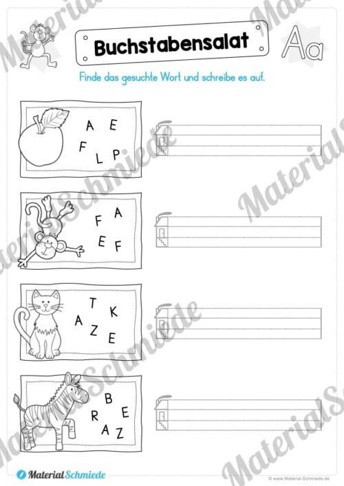 Materialpaket: Buchstabe A/a schreiben lernen (Vorschau 09)