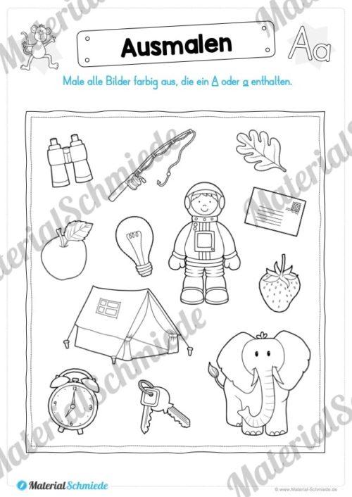 Materialpaket: Buchstabe A/a schreiben lernen (Vorschau 10)
