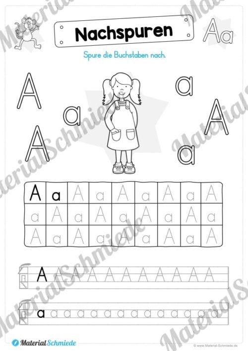Materialpaket: Buchstabe A/a schreiben lernen (Vorschau 11)