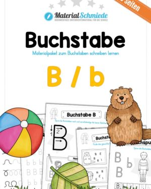 Materialpaket: Buchstabe B/b schreiben lernen