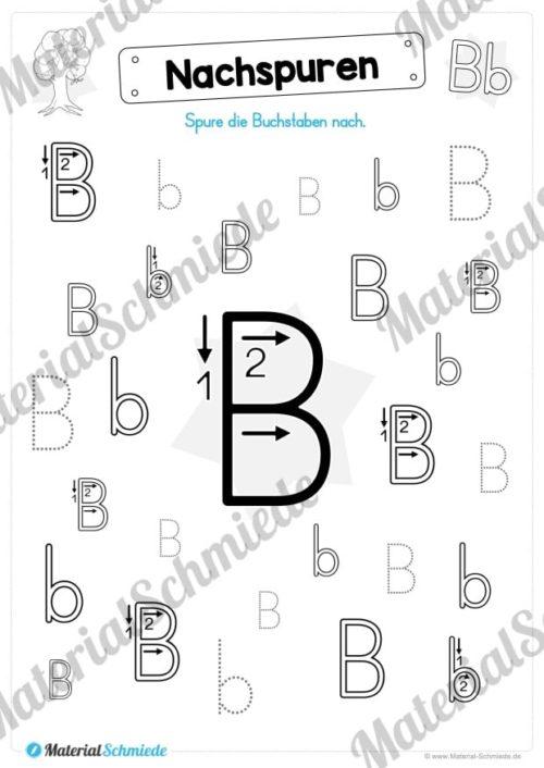 Materialpaket: Buchstabe B/b schreiben lernen (Vorschau 04)