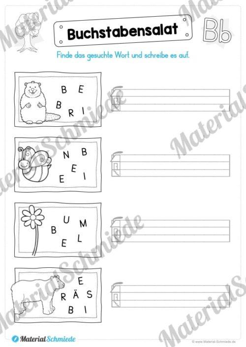 Materialpaket: Buchstabe B/b schreiben lernen (Vorschau 07)