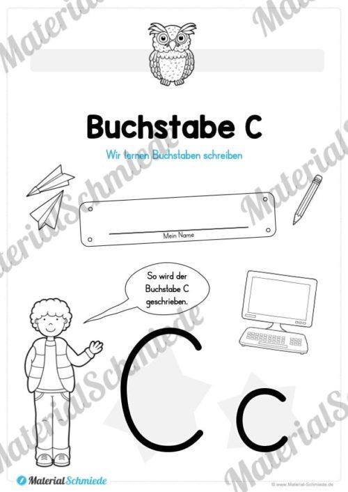 Materialpaket: Buchstabe C/c schreiben lernen (Vorschau 01)