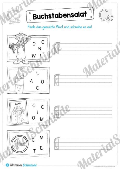 Materialpaket: Buchstabe C/c schreiben lernen (Vorschau 05)