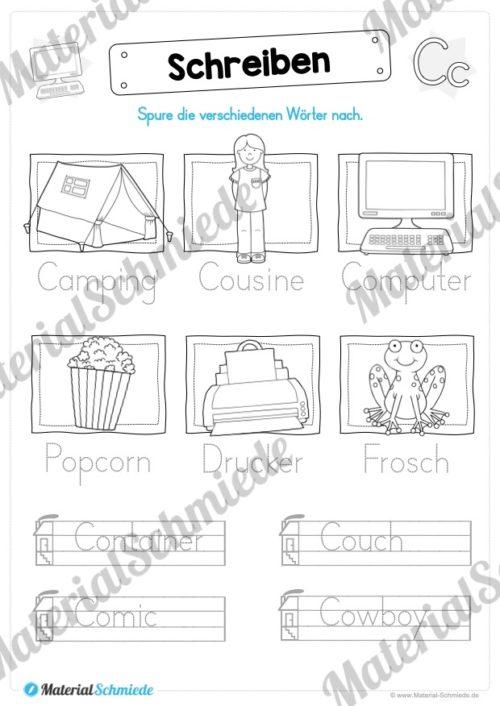 Materialpaket: Buchstabe C/c schreiben lernen (Vorschau 06)