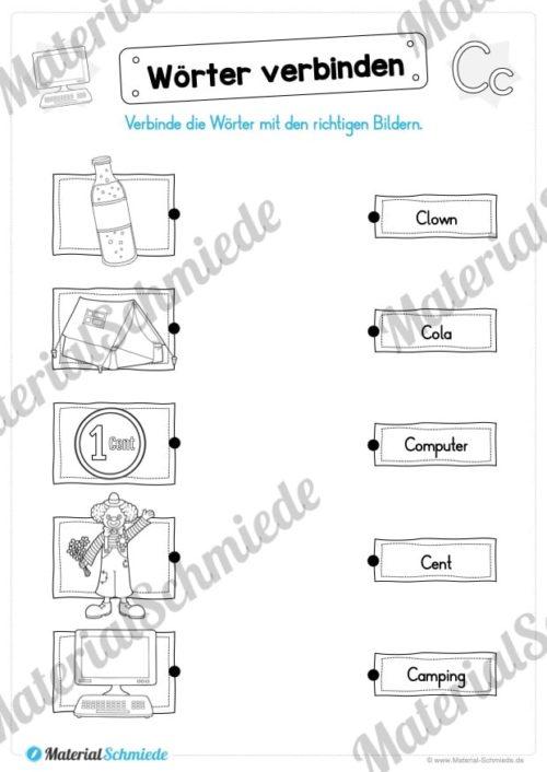 Materialpaket: Buchstabe C/c schreiben lernen (Vorschau 07)