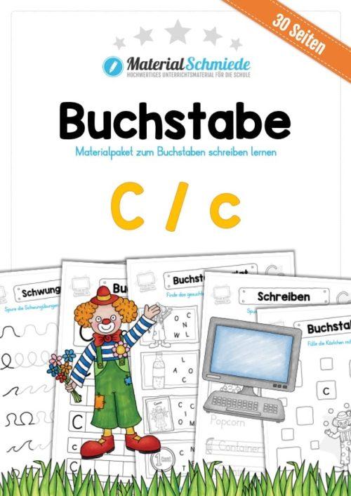 Materialpaket: Buchstabe C/c schreiben lernen