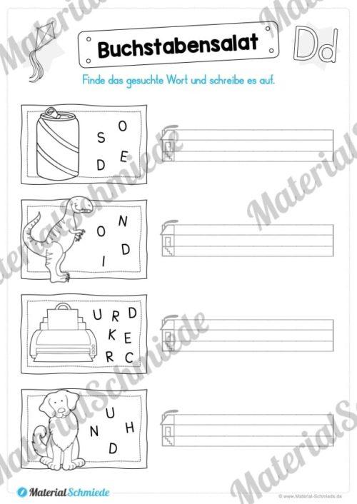 Materialpaket: Buchstabe D/d schreiben lernen (Vorschau 06)