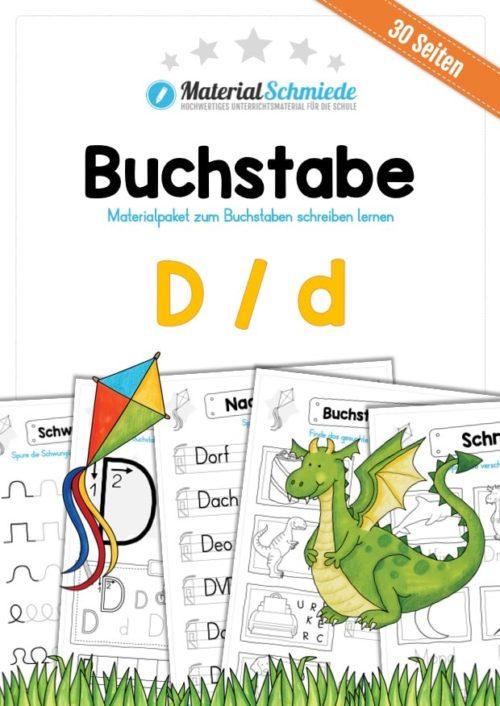 Materialpaket: Buchstabe D/d schreiben lernen
