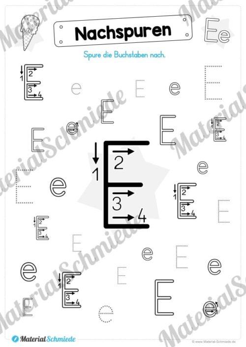 Materialpaket: Buchstabe E/e schreiben lernen (Vorschau 03)