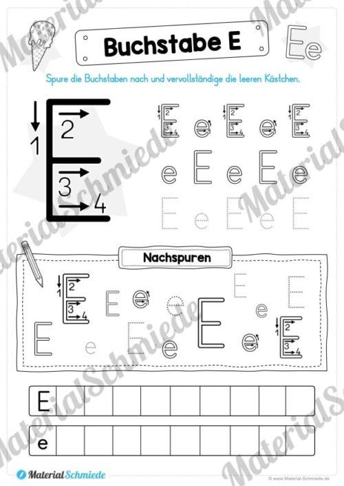 Materialpaket: Buchstabe E/e schreiben lernen (Vorschau 04)