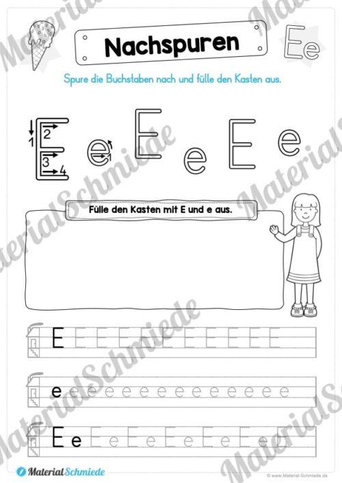Materialpaket: Buchstabe E/e schreiben lernen (Vorschau 05)