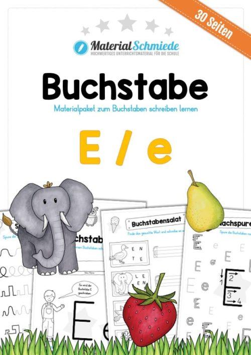 Materialpaket: Buchstabe E/e schreiben lernen