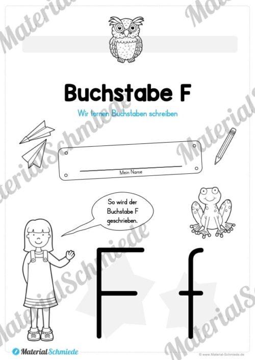 Materialpaket: Buchstabe F/f schreiben lernen (Vorschau 01)