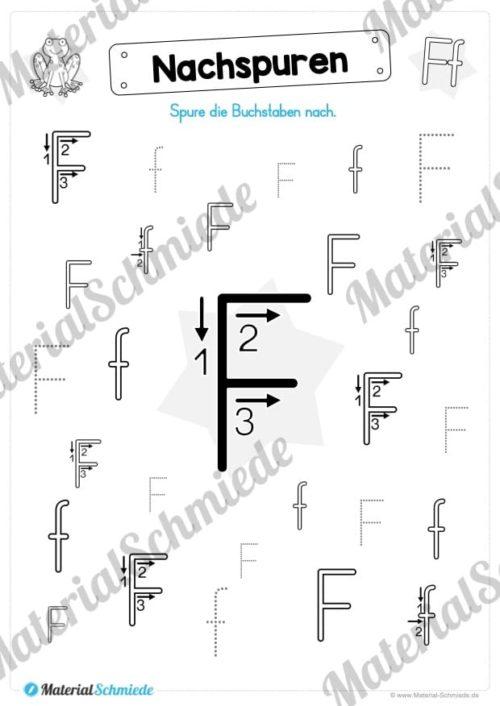 Materialpaket: Buchstabe F/f schreiben lernen (Vorschau 04)