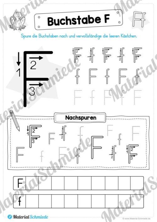 Materialpaket: Buchstabe F/f schreiben lernen (Vorschau 05)