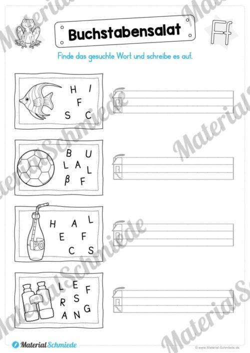 Materialpaket: Buchstabe F/f schreiben lernen (Vorschau 06)