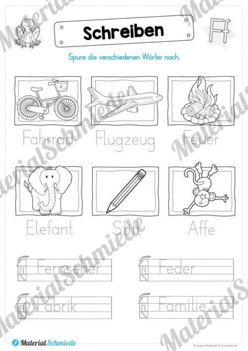 Materialpaket: Buchstabe F/f schreiben lernen (Vorschau 07)