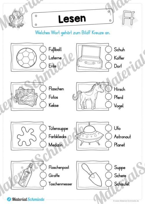 Materialpaket: Buchstabe F/f schreiben lernen (Vorschau 08)