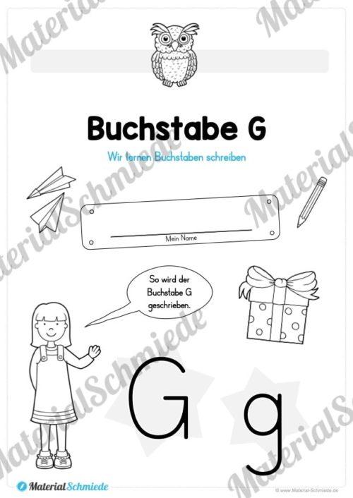Materialpaket: Buchstabe G/g schreiben lernen (Vorschau 01)