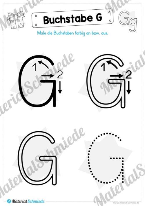 Materialpaket: Buchstabe G/g schreiben lernen (Vorschau 03)