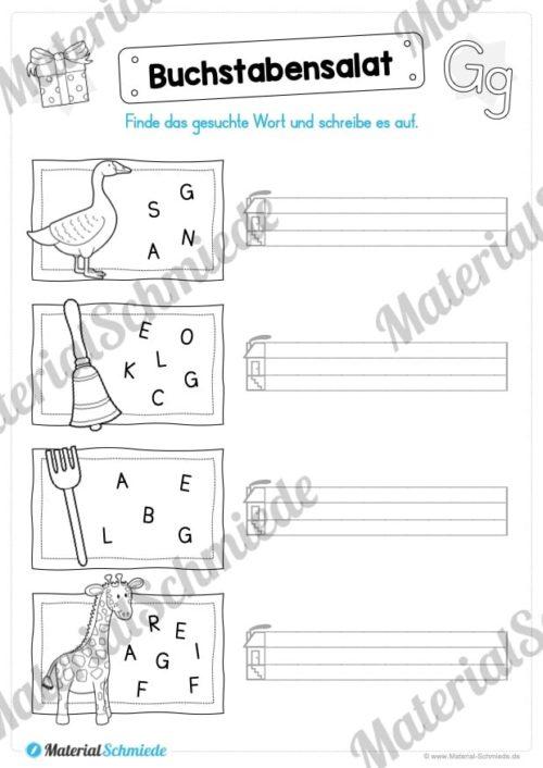 Materialpaket: Buchstabe G/g schreiben lernen (Vorschau 07)