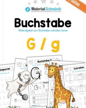 Materialpaket: Buchstabe G/g schreiben lernen