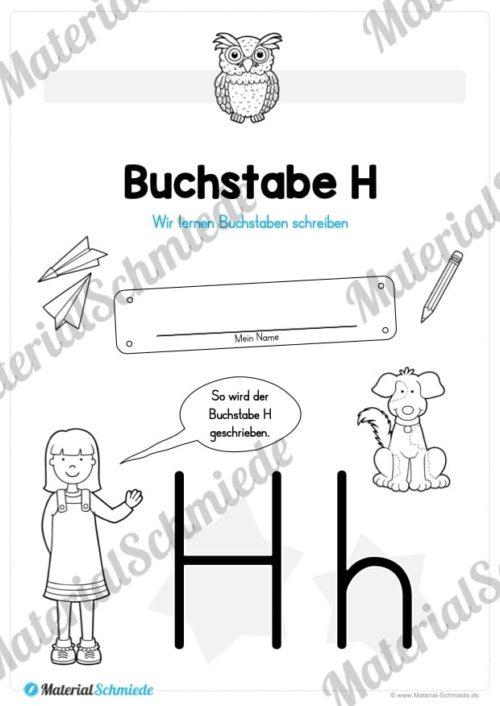 Materialpaket: Buchstabe H/h schreiben lernen (Vorschau 01)