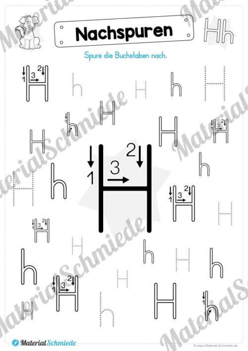 Materialpaket: Buchstabe H/h schreiben lernen (Vorschau 03)