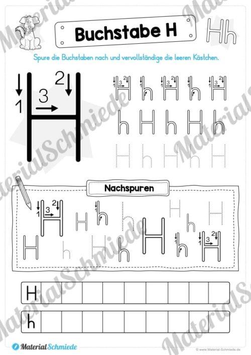 Materialpaket: Buchstabe H/h schreiben lernen (Vorschau 04)