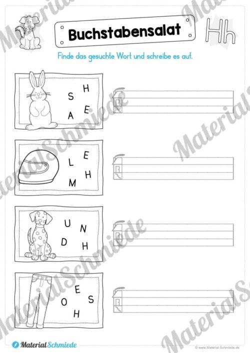 Materialpaket: Buchstabe H/h schreiben lernen (Vorschau 05)