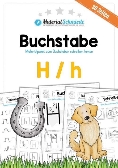Materialpaket: Buchstabe H/h schreiben lernen