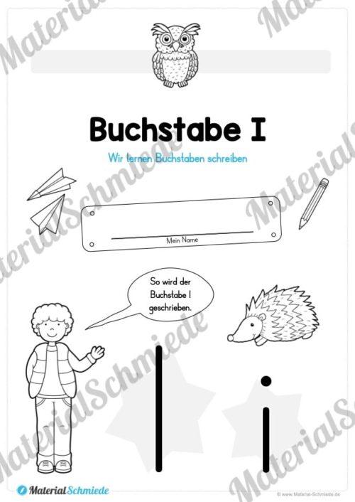 Materialpaket: Buchstabe I/i schreiben lernen (Vorschau 01)