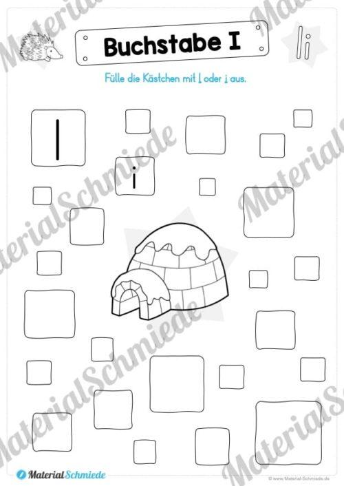 Materialpaket: Buchstabe I/i schreiben lernen (Vorschau 05)