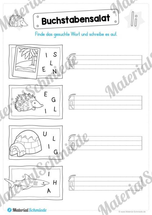 Materialpaket: Buchstabe I/i schreiben lernen (Vorschau 06)