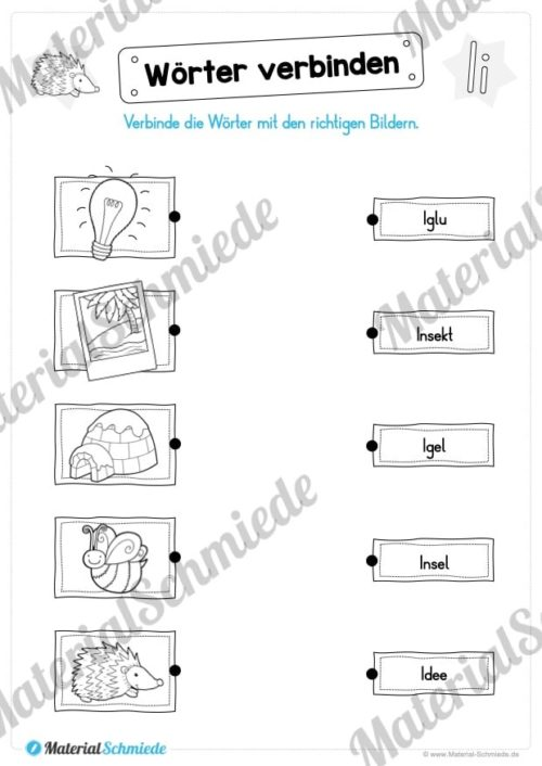 Materialpaket: Buchstabe I/i schreiben lernen (Vorschau 08)