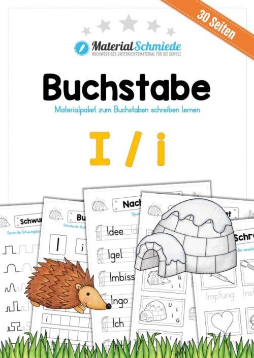 Materialpaket: Buchstabe I/i schreiben lernen