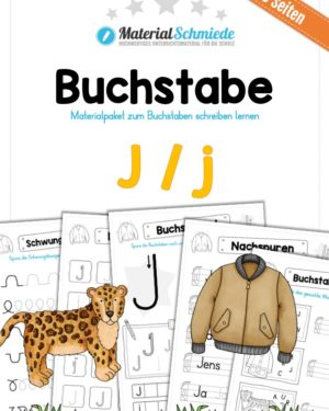 Materialpaket: Buchstabe J/j schreiben lernen