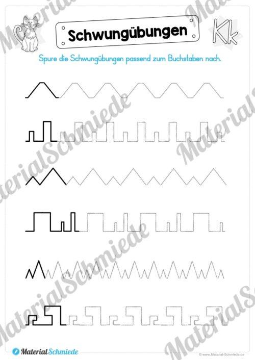 Materialpaket: Buchstabe K/k schreiben lernen (Vorschau 01)