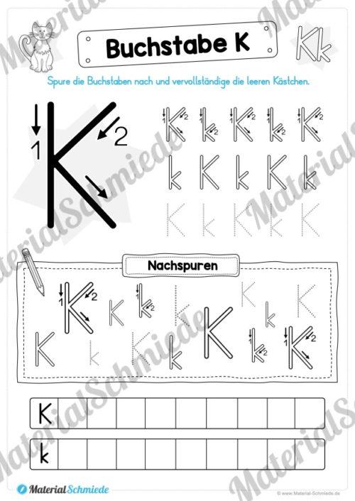 Materialpaket: Buchstabe K/k schreiben lernen (Vorschau 03)