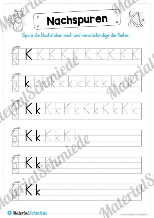 Materialpaket: Buchstabe K/k schreiben lernen (Vorschau 04)