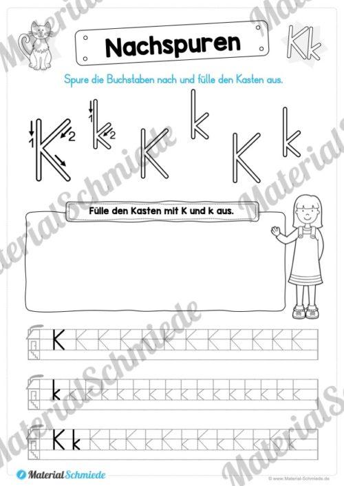 Materialpaket: Buchstabe K/k schreiben lernen (Vorschau 05)