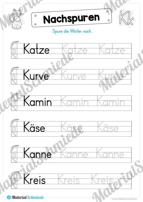 Materialpaket: Buchstabe K/k schreiben lernen (Vorschau 06)